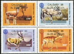 CHAD 1996 Antelopes, Calgary Overprint, Fauna MNH - Chad (1960-...)