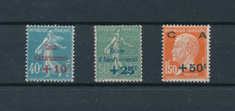 FRANCE 1927 - Caisse D'amortissement Yvert 246/248** Neufs Sans Charnière MNH - France