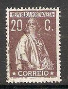 005434 Portugal 1912 Ceres 20c FU - 1910-... Republic