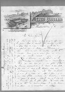 Courrier Illustré Manufacture Espadrille Spécialité De Cousu Machine Louis Béguerie Mauléon 5-12?-1897 - Frankreich