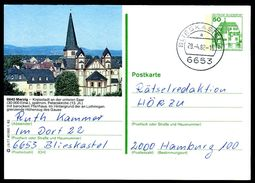82482) BRD - P 134 - J5/77 - OO Gestempelt - 6640 Merzig, St. Peter, Kirche - BRD