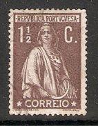 005438 Portugal 1917 Ceres 1 1/2c FU - 1910-... Republic