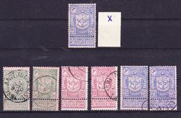 België Nr 68/70 Varia Nuance En Stempels,zeer Mooi Lot Krt 3484, KOOPJE ,   Zie Ook Andere Mooie Loten - 1894-1896 Expositions