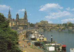 GERMANIA - 2000 -  Cartolina  Viaggiata Riproducente Il Fiume Elba Nella Città Di Dresda, Affrancatura Yvert 1860. - Dresden