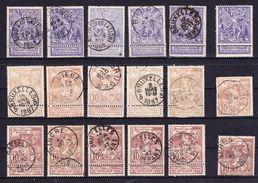 België Nr 71/73 Varia Nuance En Stempels,zeer Mooi Lot K 500, KOOPJE ,   Zie Ook Andere Mooie Loten - 1894-1896 Expositions