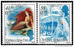 Serbia And Montenegro - 2005 - 200th Birthday Of Hans Christian Andersen - Mint Stamp Set - Serbien