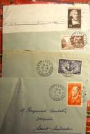 SEULS SUR LETTRE   DE 1951 - Postmark Collection (Covers)
