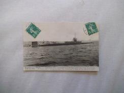 """LE SUBMERSIBLE """"PLUVIOSE"""" COMMANDANT CALLOT COMMANDANT EN SECOND ENGEL PERDU CORPS ET BIENS LE 26 MAI 1910 DEVANT CALAIS - Sottomarini"""