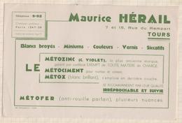848 BUVARD  METOZINC METOX METOFER HERAIL TOURS - Wash & Clean