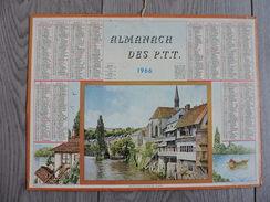 Calendrier  PTT 1966 Almanach Poste Meurthe Et Moselle - Argenton Sur Creuse ( Indre ) - Petit Format : 1961-70