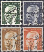 !b! BERLIN 1971 Mi. 393-396 USED SET Of 4 SINGLES (a) - Federal President Dr. Heinemann - [5] Berlin