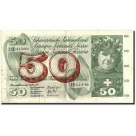 Suisse, 50 Franken, 1967, KM:48g, 1967-06-30, TB+ - Switzerland