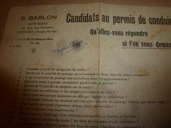 Candidats Au Permis De Conduire ----> QU'ALLEZ-VOUS REPONDRE Si L'on Vous Demande ------???? - Sin Clasificación