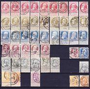 België Nr 74/80 Varia Nuance En Stempels (2fr Heeft Plooi) ,zeer Mooi Lot 3617, KOOPJE ,   Zie Ook Andere Mooie Loten - 1905 Grosse Barbe