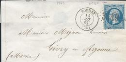 Meuse : LSC Avec CAD 15 De Souilly De 1863 Et GC3449. Indice 5-cote 22€. Bon état. - Marcofilia (sobres)