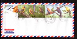 2000    R.D.C Oiseaux Du Congo, 1861 / 1866 Sur Enveloppe, - Zangvogels