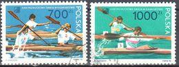 Poland 1990 World Kayaking Championships - Mi. 3279-80 - Used Gestempelt - 1944-.... Republiek