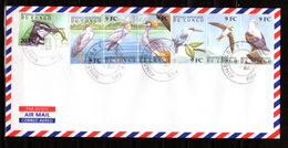 2000    R.D.C Oiseaux Du Congo, 1861 / 1872 Sur Enveloppe, - Kraanvogels En Kraanvogelachtigen