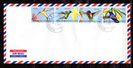 2000    R.D.C Colibris, 1875 / 1876 + 1886 / 1887 Sur Enveloppe - Kolibries
