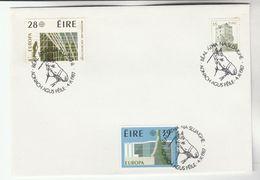 1987 Ballinasloe HORSE FAIR EVENT COVER Pmk IRELAND Europa Stamps - 1949-... Republic Of Ireland