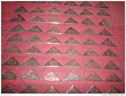 Monogrammes ) P.VISSAC : Argent Massif -1900 / 1930 - Format Trangle 31x15mm Vendu à Lunité - Sac à Main - Porte Feuille - Bijoux & Horlogerie