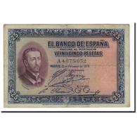 Espagne, 25 Pesetas, 1926, KM:71a, 1926-10-12, TB+ - [ 1] …-1931 : Eerste Biljeten (Banco De España)