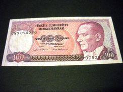 TURQUIE 100 Lirasi / Livres 1984, 1984-1997, Loi De 1970 , Pick N°194 , TURKEY - Turchia