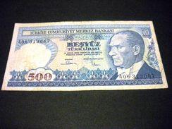 TURQUIE 500 Lirasi / Livres 1983, 1984-1997, Loi De 1970 , Pick N°195 , TURKEY - Turchia