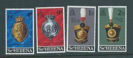 St Helena 1970 Military Equipment & Emblems Set 4 MNH - St. Helena