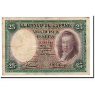 Espagne, 25 Pesetas, 1931, KM:81, 1931-04-25, TB+ - [ 1] …-1931 : Eerste Biljeten (Banco De España)