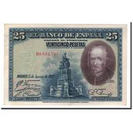 Espagne, 25 Pesetas, 1928, KM:74b, 1928-08-15, SPL - [ 1] …-1931 : Eerste Biljeten (Banco De España)