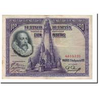 Espagne, 100 Pesetas, 1928, KM:76a, 1928-08-15, TTB+ - [ 1] …-1931 : First Banknotes (Banco De España)