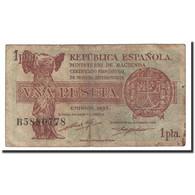 Espagne, 1 Peseta, 1937, KM:94, TB - [ 3] 1936-1975 : Régence De Franco