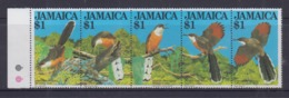 Jamaica Jamaican Lizard Cuckoo, Birds Strip MNH - Oiseaux