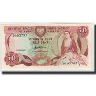 Chypre, 50 Cents, 1983-10-01, KM:49a, NEUF - Chypre