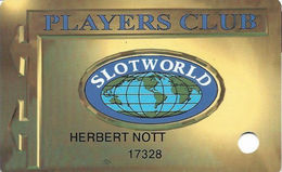 Slotworld Casino - Carson City, NV - Slot Card - 5 Lines Of Text On Reverse - Casino Cards