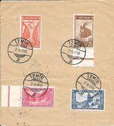 TURQUIE  /  N° 1059  à  1062  /  Oblitération  IZMIR 1940  Sur  Feuille - 1921-... Republic