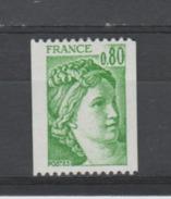 FRANCE / 1978 / Y&T N° 1980 ** : Sabine 80c Vert Roulette - Gomme D´origine Intacte - France