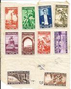 TURQUIE  1938  /  10  Timbres  Neufs  ( Légèrement  Collés  Sur  Feuille  ) - 1921-... Republic