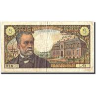 France, 5 Francs, 5 F 1966-1970 ''Pasteur'', 1967, 1967-12-07, KM:146b, TB+ - 1962-1997 ''Francs''
