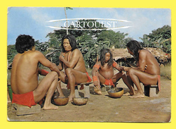 CPSM 973 GUYANE Groupe D'indiens Wayana  1971 - Guyane