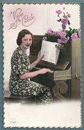 CPA - JEUNE FEMME - PIANO - VIVE STE CÉCILE - Women