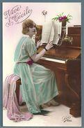 CP - JEUNE FEMME - PIANO - VIVE STE CÉCILE - Femmes