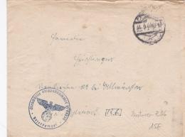 Feldpost WW2: From A Destroyer Zerstörer Z 36  FP M54855 P/m 27.5.1944 - Letter Inside. Operation Area: The Baltic Sea ( - Militaria
