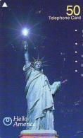 Telecarte JAPON (896) Statue De La Liberte * New York USA * PHONECARD JAPAN * STATUE OF LIBERTY * - Landscapes