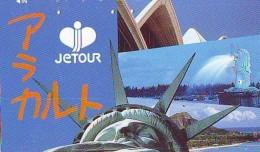 Telecarte JAPON (898) Statue De La Liberte * New York USA * PHONECARD JAPAN * STATUE OF LIBERTY * - Landscapes