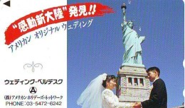 Telecarte JAPON (899) Statue De La Liberte * New York USA * PHONECARD JAPAN * STATUE OF LIBERTY * - Landscapes