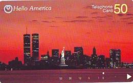 Telecarte JAPON (900) TWIN TOWER * Statue De La Liberte * New York USA * PHONECARD JAPAN * STATUE OF LIBERTY * - Landscapes