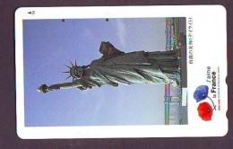 Telecarte JAPON (901) Statue De La Liberte * New York USA * PHONECARD JAPAN * STATUE OF LIBERTY * - Landscapes