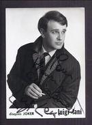 AUTOGRAPHE ORIGINAL DEDICACE Luigi LANI Disques JOKER PHOTO NISAK PARIS - Chanteur - Autogramme & Autographen